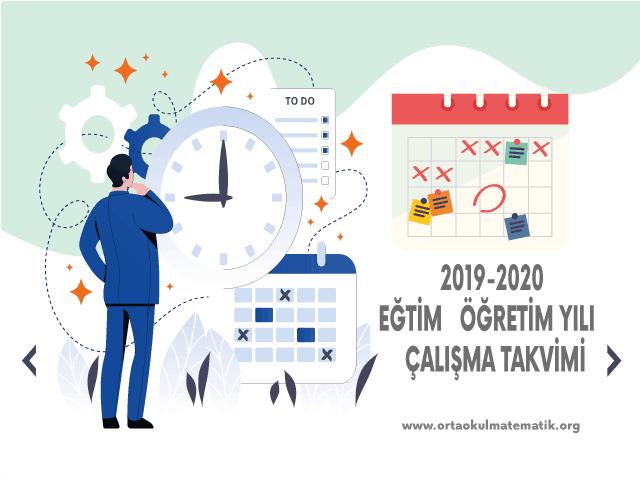 2019-2020 Çalışma Takvimi