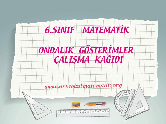 6 Sinif Matematik Ortaokul Matematik